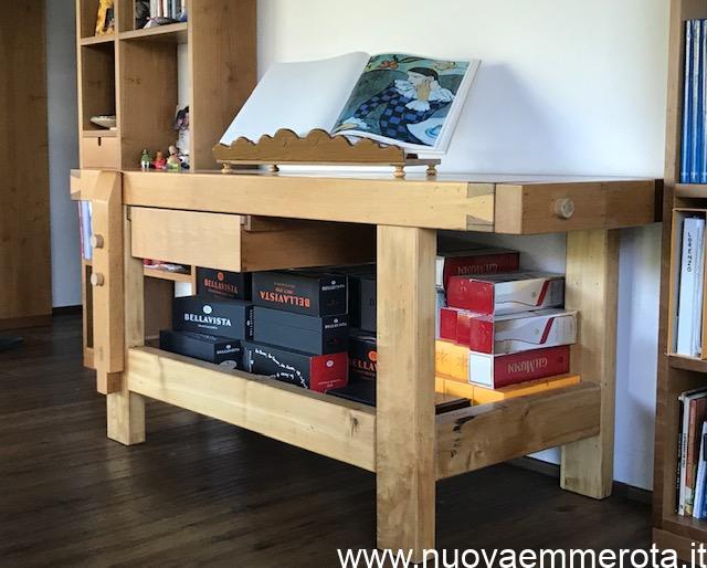 Tavolo banco da falegname restaurato