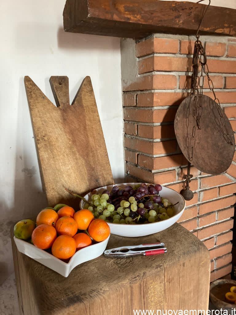 Ceppo da macellaio porta frutta