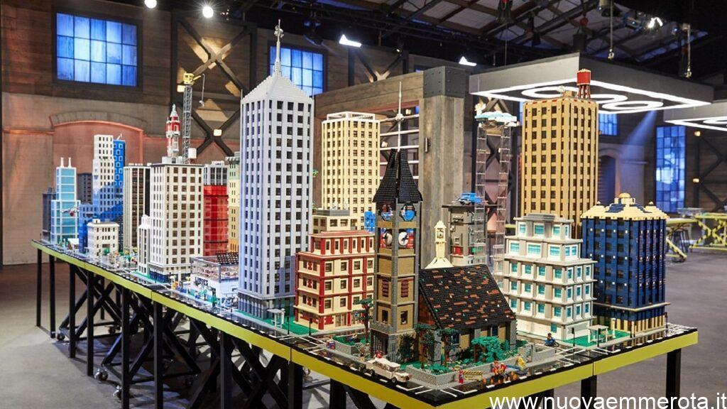 Città costruita con mattoncini di lego